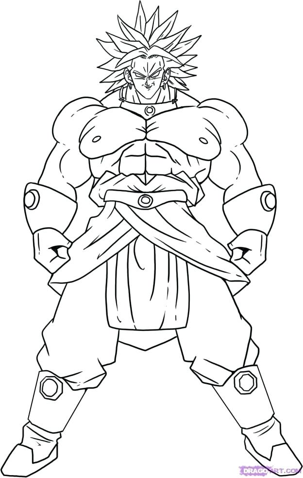 624x985 Dragon Ball Z Goku Coloring Pages