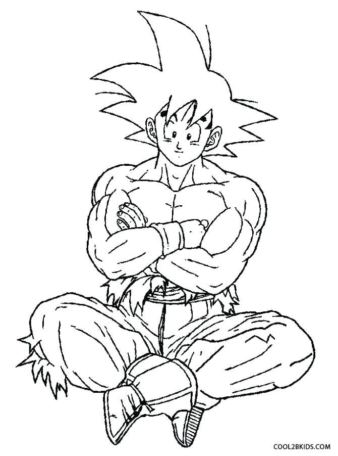670x902 Goku Coloring Pages