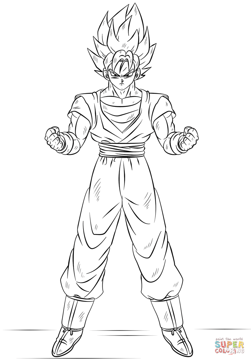 Goku Super Saiyan 3 Coloring Pages