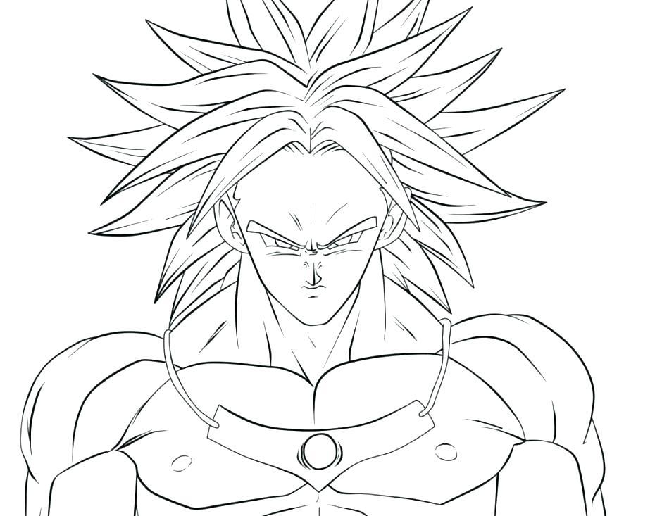940x733 Goku Super Saiyan Colouring Pages Coloring Dragon Ball Awesome