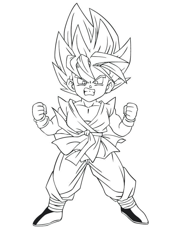 600x776 Goku Super Saiyan Coloring Pages Super Coloring Page Dragon Ball