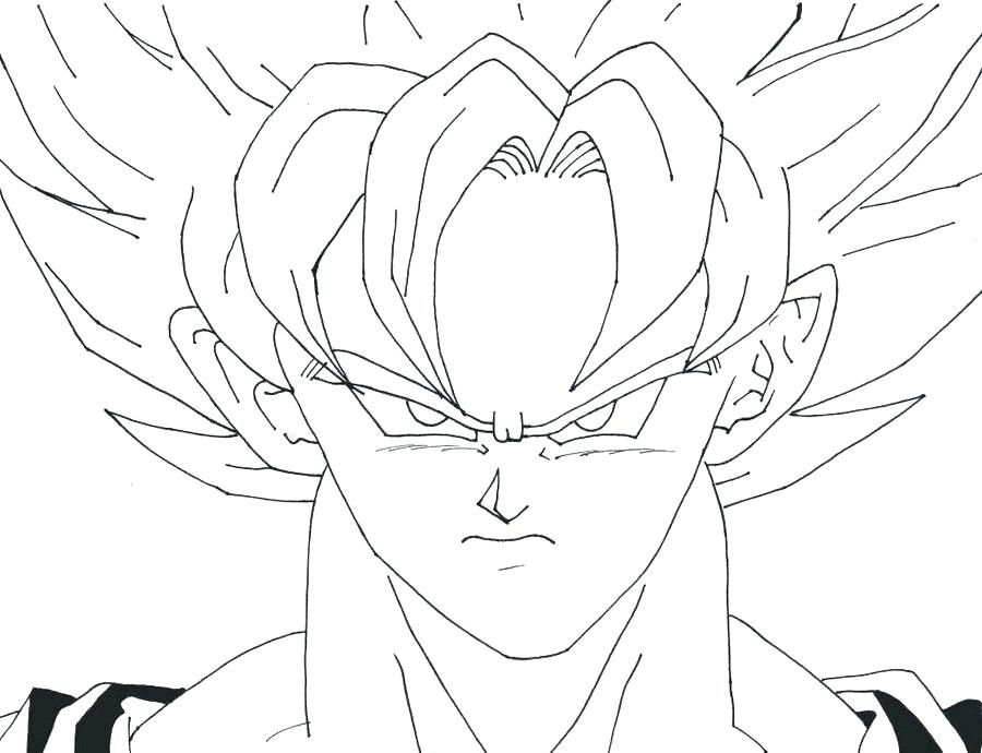 900x690 Super Saiyan Coloring Pages Super Coloring Page Goku Super Saiyan