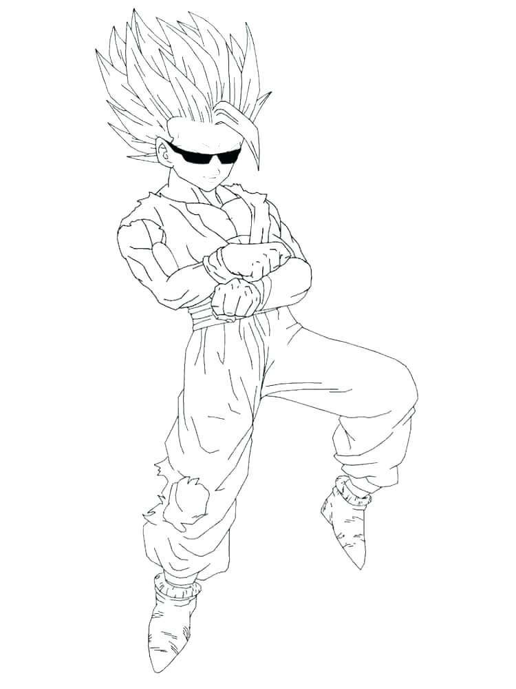 750x1000 Goku Super Saiyan Coloring Pages Grandmaman Site