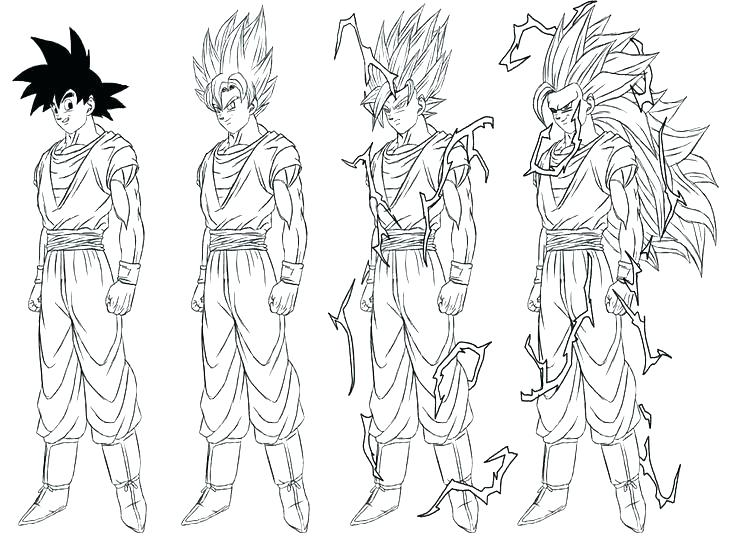 Goku Super Saiyan 4 Coloring Pages At Getdrawings Com Free