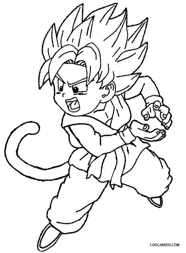 626x850 Dragon Ball Z Coloring Pages Goku Super Saiyan Dragon Ball Z