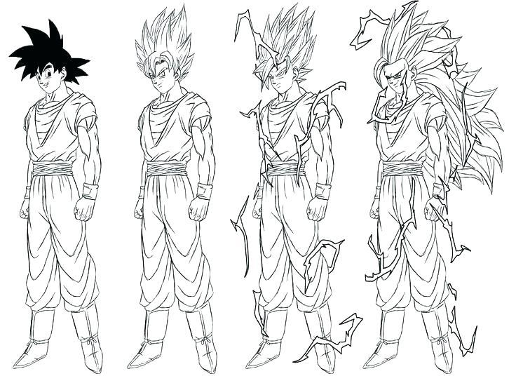Goku Super Saiyan Coloring Pages At Getdrawings Free Download
