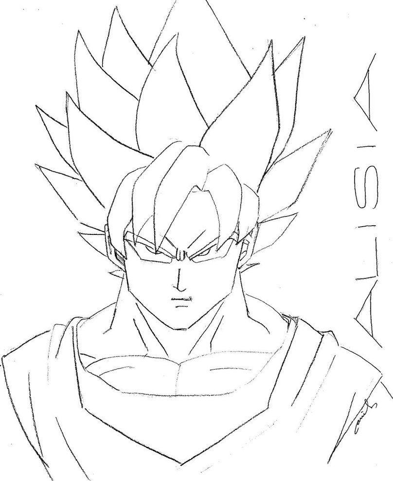 808x989 Goku Super Saiyan Coloring Pages Goku Super Saiyan Coloring Goku