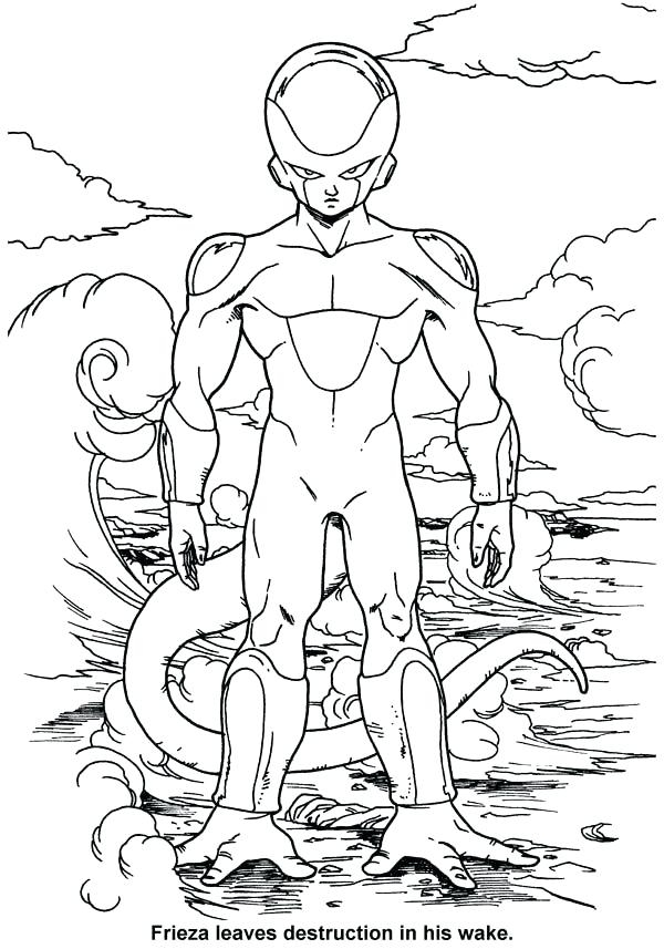 600x857 Exelent Dragon Ball Z Coloring Pages Frieza Illustration