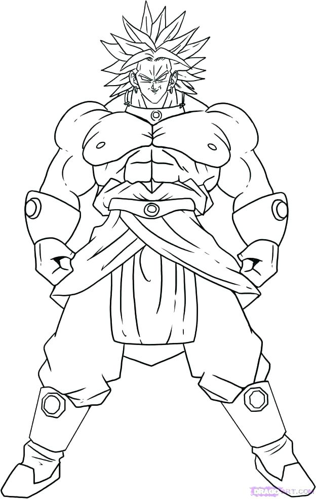 Goku Vs Vegeta Coloring Pages At Getdrawings Com Free For Personal