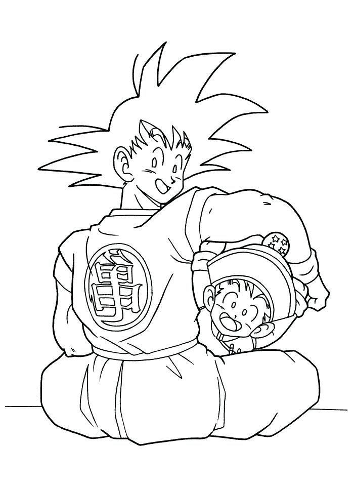 Goku Vs Vegeta Coloring Pages at GetDrawings.com | Free for ...