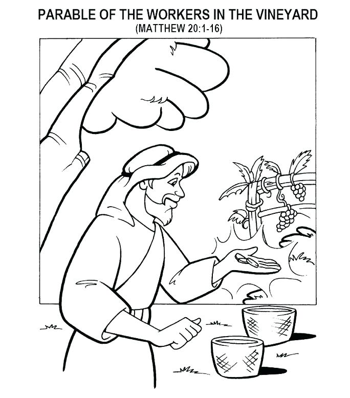 684x778 Coin Coloring Pages Coins Coloring Page Parable Of The Workers