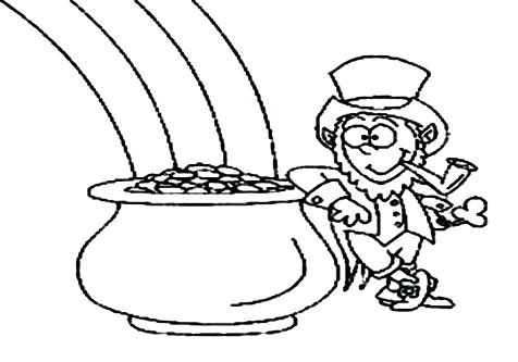 476x333 Pot Of Gold Coloring Pages Pot Of Gold Coloring Page Gold Coin Pot
