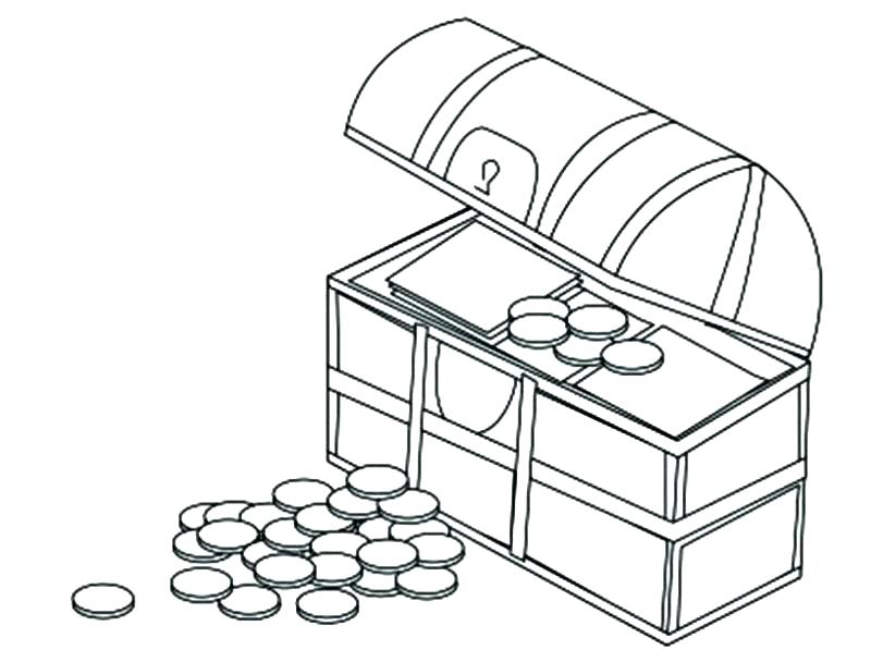 800x597 Coin Coloring Page Amazing Coin G Page Fee Treasure Chest Filled