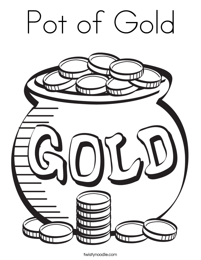 685x886 Pot Of Gold Coloring Page