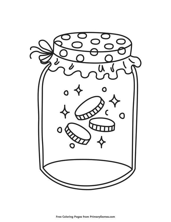 600x776 St Patrick's Day Coloring Pages Ebook Gold Coins In A Jar Gold
