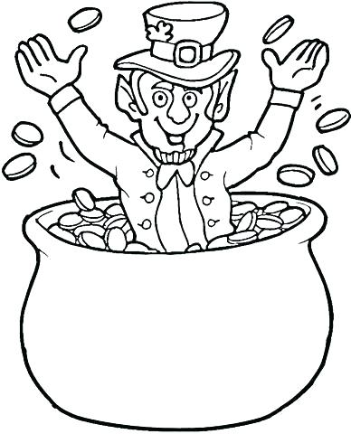 388x480 Pot Of Gold Coloring Pages Pot Of Gold Coloring Page Click To See