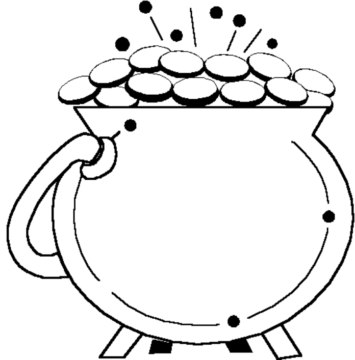 696x707 Pot Of Gold Coloring Page