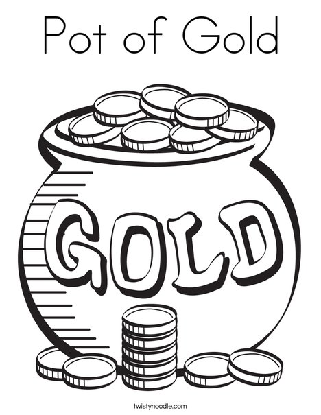 468x605 Pot Of Gold Coloring Page