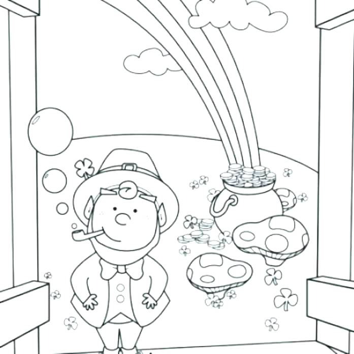 697x697 Spongebob Squarepants Coloring Page Leprechaun Coloring Pages