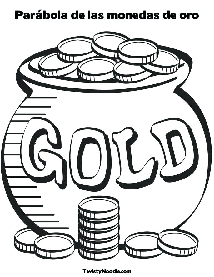 685x886 Gold Coloring Pages Pot Of Gold Coloring Pot Of Gold Coloring Page