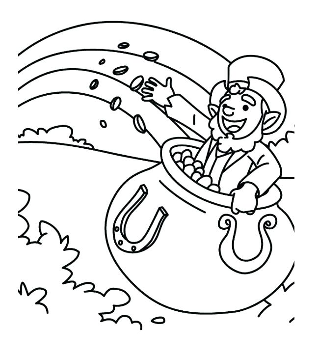 648x723 Gold Coloring Pages Kids Coloring Pages Gold Rocks Rainbow And Pot