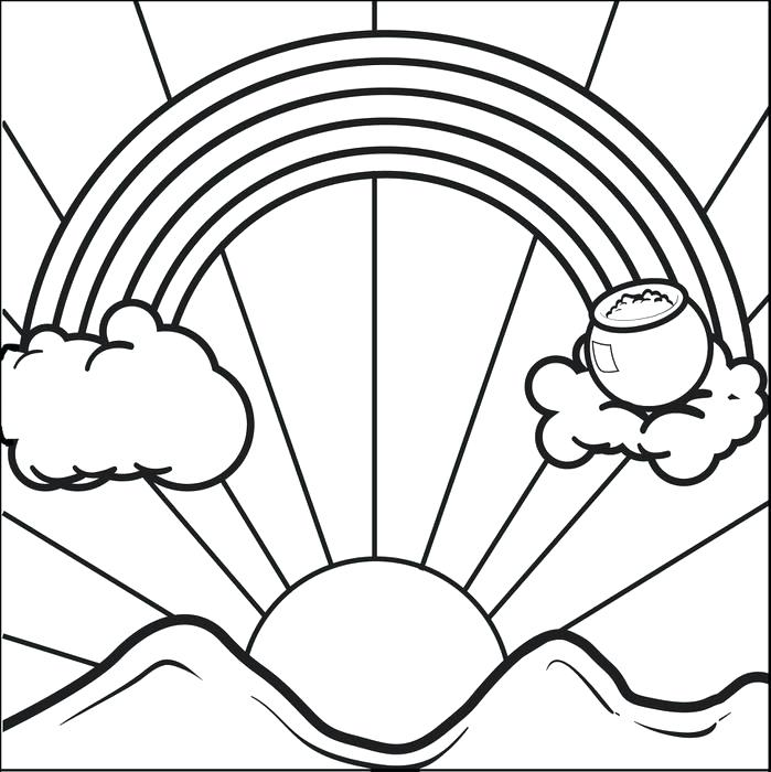 699x700 Gold Coloring Pages Rainbow And Pot Of Gold Coloring Page For Kids