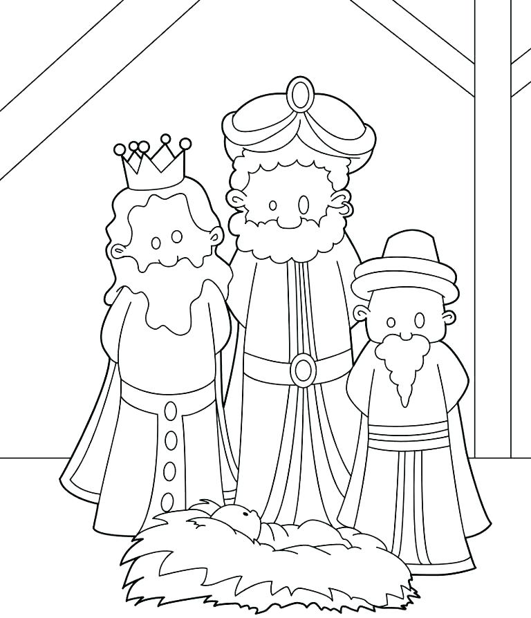 768x894 Wise Men Coloring Pages Wise Men Coloring Pages Three Wise Men