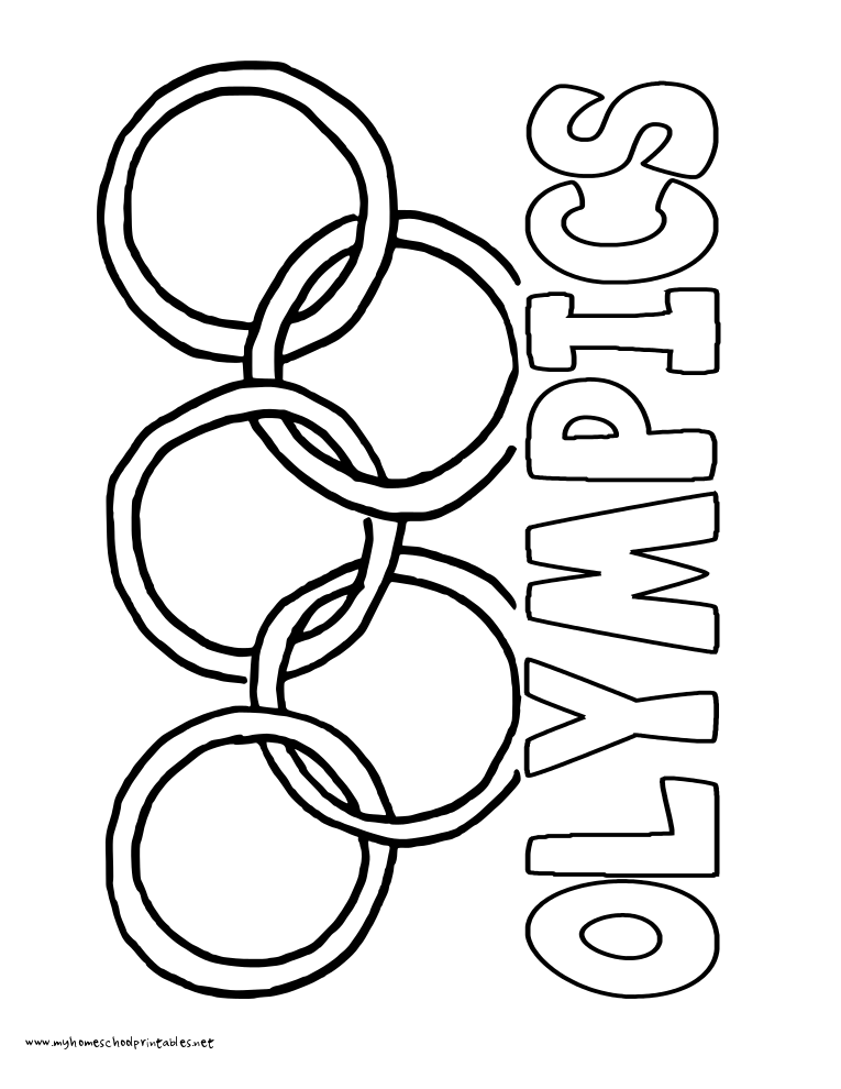 765x990 Olympic Coloring Pages For Preschoolers