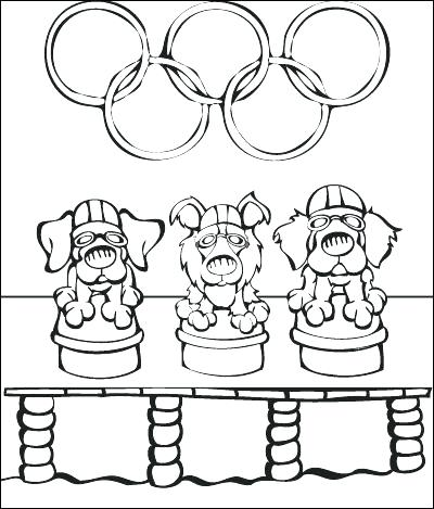 400x469 Olympic Rings Coloring Page Coloring Pages Coloring Sheets