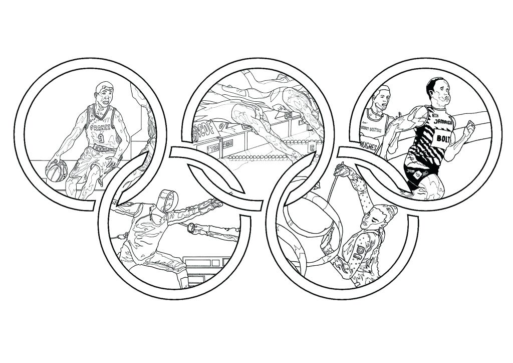 1024x724 Olympic Rings Colouring Page Pdf Coloring Special