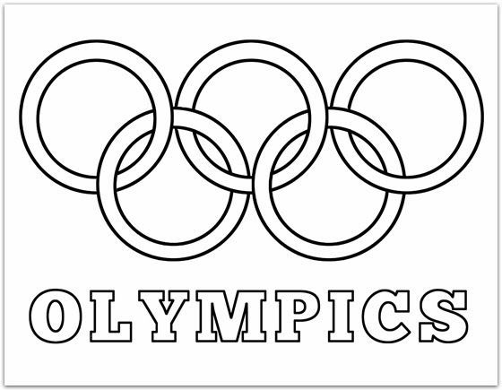 560x435 Olympic Rings Printable Coloring Pages Daycare Fun