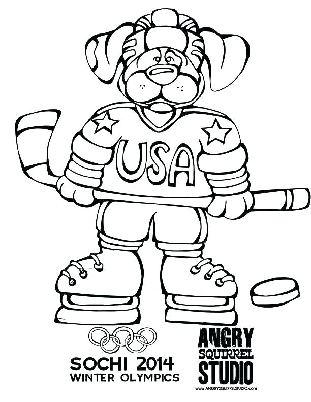 612x792 Olympic Coloring Pages