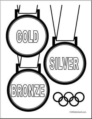 304x392 Coloring Page Winter Olympic Medals