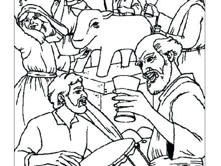 440x330 Golden Calf Coloring Page Golden Calf Coloring Page Free