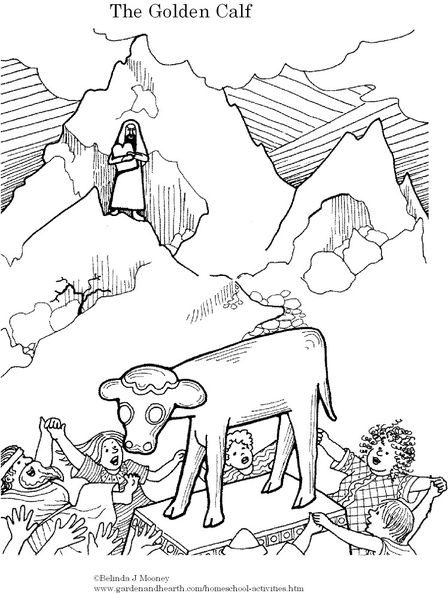 448x593 Aaron And The Golden Calf Coloring Page