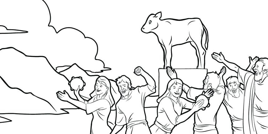 860x430 Golden Calf Coloring Page The Make An Idol Golden Golden Calf