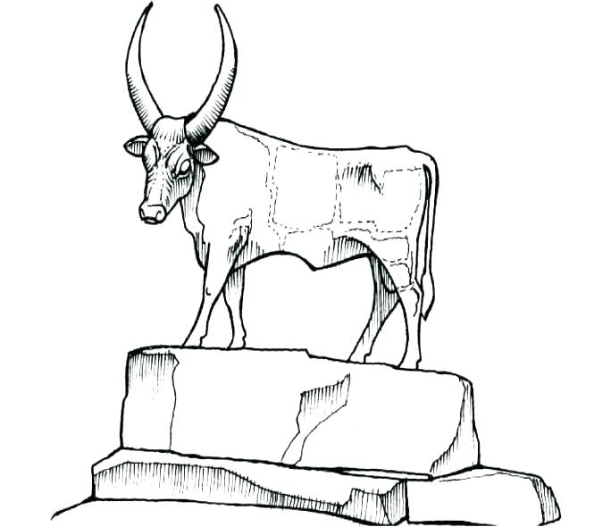 684x590 Israelites Golden Calf Coloring Page Not To Mention The Result