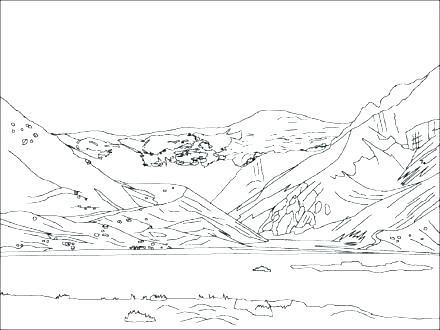 440x330 Mountain Coloring Page Golden Calf Coloring Page Mountains