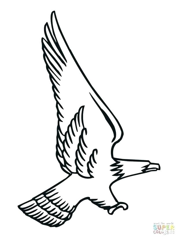 615x820 Golden Eagle Coloring Page