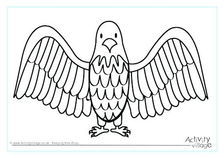 460x325 Eagle Coloring Page