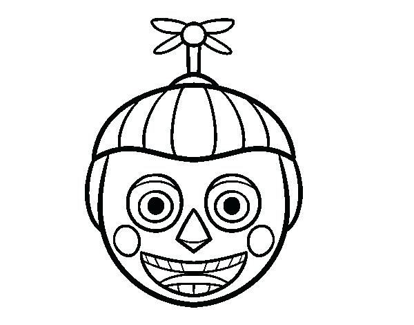600x470 Freddie Coloring Pages Balloon Boy From Five Nights At Coloring