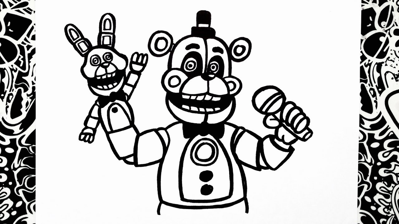 1280x720 Fresh Fnaf Coloring Pages All Characters