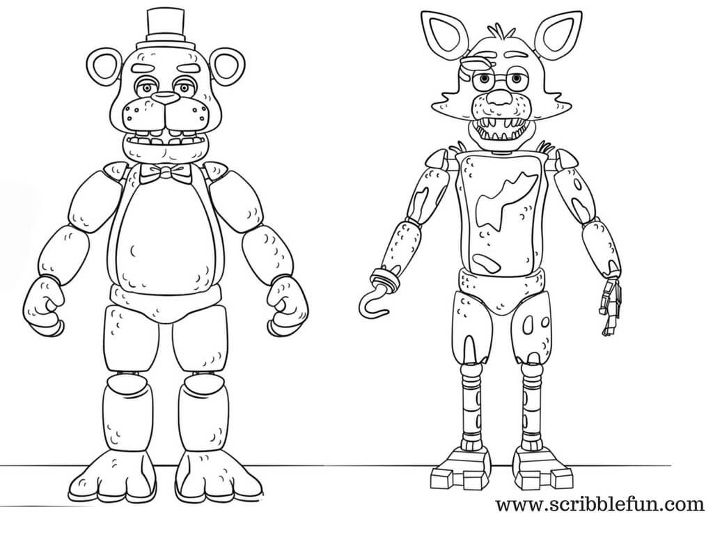 1024x768 Free Printable Five Nights At Freddy's Coloring Pages