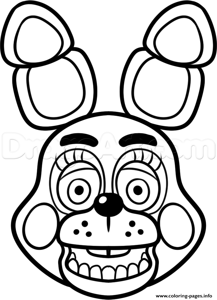 695x963 Print Mangle Golden Freddy Face Fnaf Coloring Pages Quilts