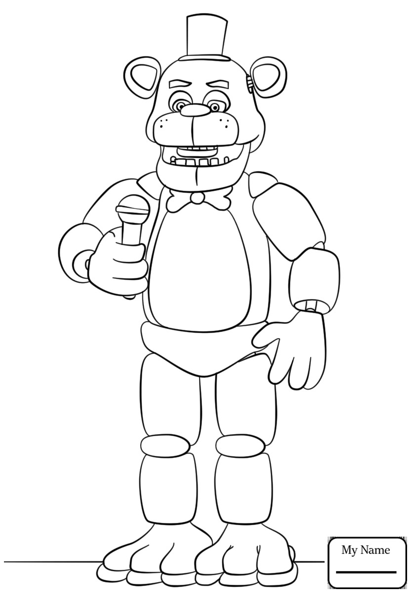 840x1210 Coloring Pages Cartoons Fnaf Golden Freddy Five Nights At Freddys