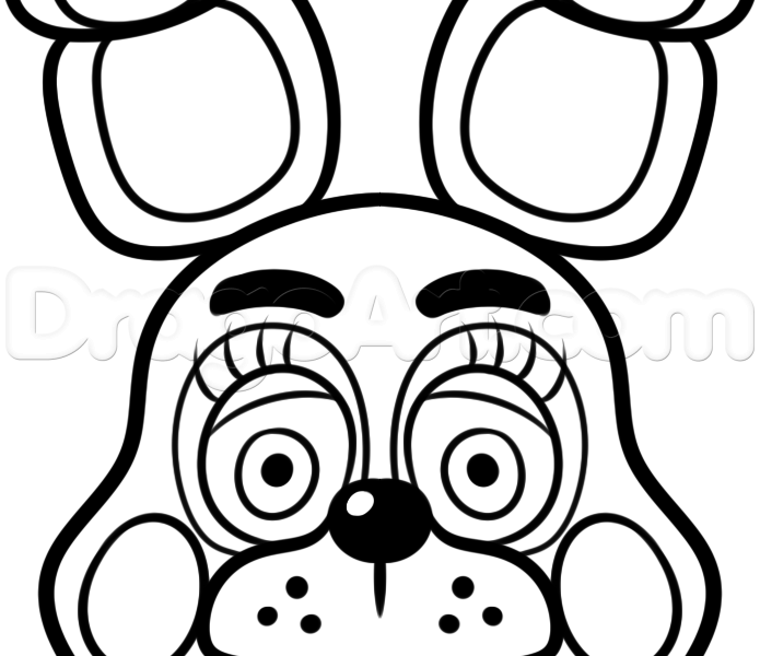 695x600 Contemporary Decoration Fnaf Coloring Pages Print Mangle Golden