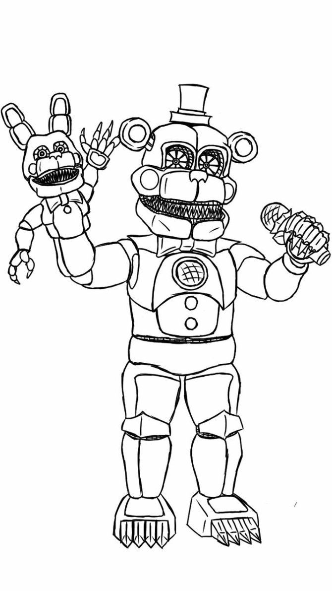 670x1191 Five Night Of Freddy Coloring Fnaf Pages