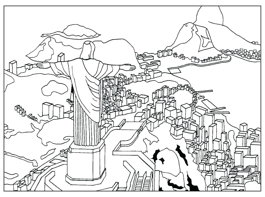 1024x759 Sphinx Coloring Page Bridge Coloring Page Golden Gate Bridge