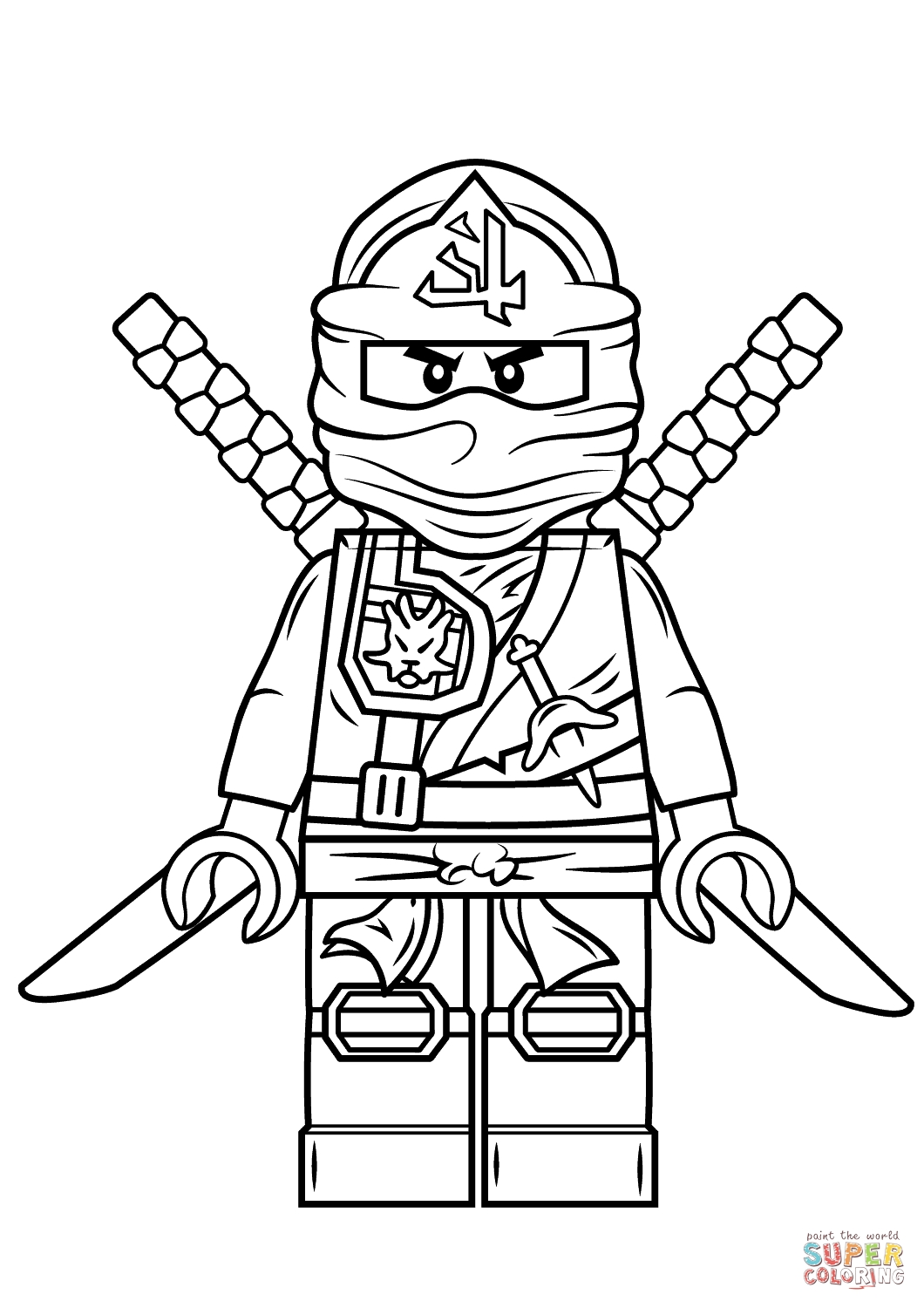 1060x1500 Cool Golden Ninjago Coloring Pages