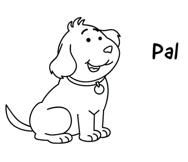 600x515 Golden Retriever Coloring Page